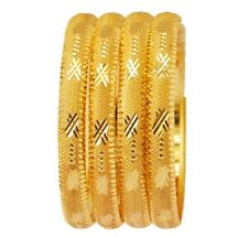 Indian Ethnic Gold Plated Bollywood Jewelry Fashion Bangles Bracelets Set Bsv124