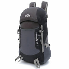 35L Waterproof Camping Hiking Backpack Outdoor Travel Luggage Rucksack Bag Black