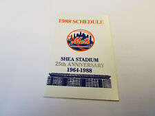 New York Mets 1988 MLB Baseball Pocket Schedule - Metropolitan Life