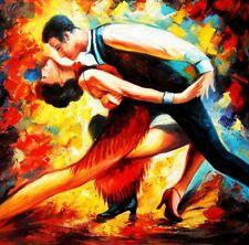 "Modern Art - The Last Dance 32X32 "" Oil Painting"