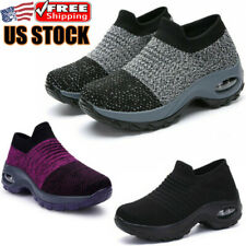 Women's Air Cushion Sneakers Lightweight Gym Casual Shoes Running Tennis Sports