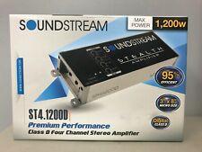 Soundstream ST4.1200D 1200 Watt Micro-Footprint Stealth Class 4-Channel Amp NEW