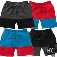 Boys Kids Fleece Sweat Shorts Contrast Colour Juniors Short Age 5 - 10 Years