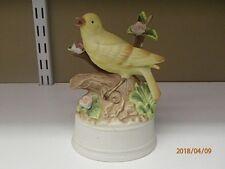 Mann Ceramic Music Box Yellow Bird Milano Porcelain by Eda Mann