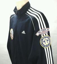 Adidas The World Taekwondo Fed Elite Fitness Patches Jacket  Blue Large L Rare!!