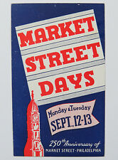 Poster Stamp Cinderella Market Street Days 250th Anniversary of Market St Phili