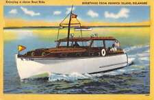 Fenwick Island Delaware Motor Boat Waterfront Antique Postcard K79875