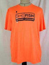 Under Armour Fish Mens Tech Shirt L Size Loose Fit Fishing UA 1271815 800 NWT