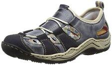 Mujer Rieker diario informal zapatos L0561 UK 6.5 azul