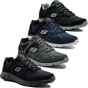 Mens Skechers Flash Point Memory Foam Casual Lightweight Sports Trainers Shoes
