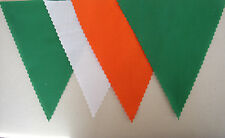 IRELAND EMERALD GREEN WHITE ORANGE FABRIC FOOTBALL BUNTING Decoration 2mt or mor