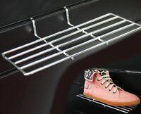 10 x Slatwall Shoe Holder Metal Chrome Display Shelf Deep