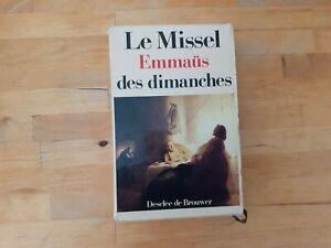 Le Missel Emmaüs des Dimanches - Desclée de Brouwer (1989)