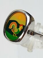 Vintage Silber Ring HAHN - 60er/70er Jahre 835 Silber punz. RG 56/17,8mm /A 911