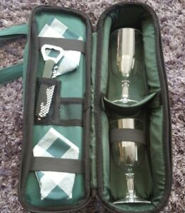 Gelert Wine Bottle Carrier With Glasses & Corkscrew