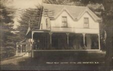 Otter Lake Greenfield NH Breezy Point Cottage c1910 Real Photo Postcard