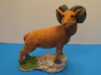 Vintage 1993 Ceramic Ram Statue Hand Painted Hand Crafted
