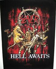 "SLAYER RÜCKENAUFNÄHER / BACKPATCH # 5 ""HELL AWAITS"" - 36x30cm"