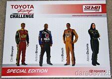 2012 Clint Bowyer/Kyle Busch Toyota Racing Dream Build SEMA Show NASCAR postcard
