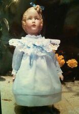 "10"" Girl Heubach Porcelain Doll Artist Helen Tickal Repro with Dress Kit"