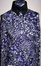 Violet Lavender and Purple Paisley Poly Knit Lycra Stretch Fabric 1 Yard 18 Inch