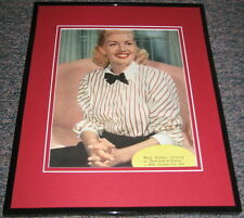 Betty Grable That Lady in Ermine 1948 Original Framed Advertisement Poster