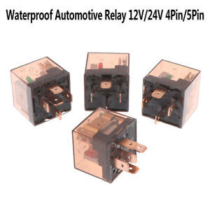 Waterproof Automotive Relay 12/24V 80A 4/5Pin SPDT Car Control Device Car Rel SW