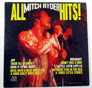 Mitch Ryder Signed LP Record Album All Hits! w/ AUTO