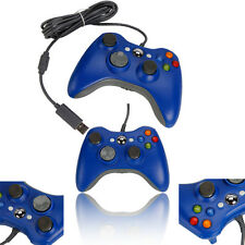 New Wired USB Game Controller for Microsoft Xbox 360 PC Windows 7 Blue