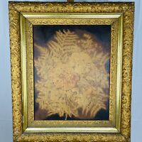 Antique 17th Century Floral Still Life Oil on Canvas Molded Gilt Wood Frame
