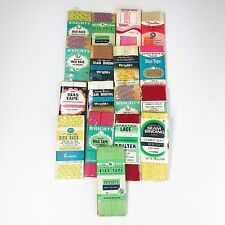Vintage Lot Of 16 Sewing Fabric Art Crafts Knit Seam Binding Trims
