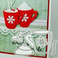 DIY Tea Cup Metal Cutting Dies Cut Stencils for Scrapbooking Embossing G_K #vv