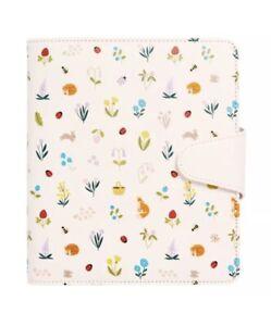 Kikki.K Leather Planner B6 Blush Slow Undated Diary Flowers Fox Forest 🌳 🌺 🦊