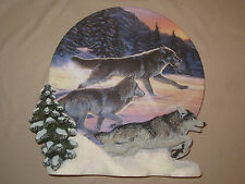 WOLF collector plate FREE AS THE WIND  Al Agnew HAMILTON 3-D