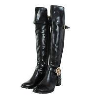 Women's Ladies Black Long Knee High Boots ( SHOES ) Size 3,4,5,6,7 & 8*