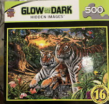 Glow In The Dark Hidden Images Tigers Close-Up 500 Pc Puzzle MasterPieces