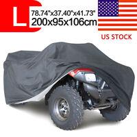 L 4x4 Waterproof Dustproof Quad ATV Rain UV Cover For Polaris Honda Arctic Cat