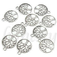 10/30/50Pcs Tibetan 'Tree of Life Circle' Charms Pendants For Jewelry Finding