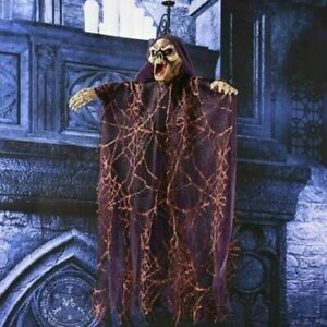 Celebrate Halloween Hanging Ghost Décor Skull Props Scary Creepy Voice Control