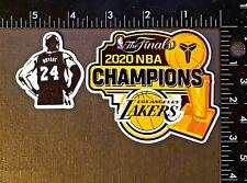 "BLACK MAMBA 3.5"" x 3"" Los Angeles Lakers 2020 NBA FINAL CHAMPIONS Vinyl Sticker"