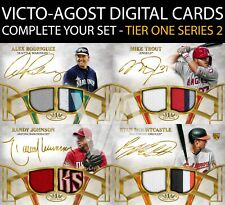 Topps Bunt Tier One S2 Signature Dual Relic ICONIC COMPLETE YOUR SET [BUNT APP]