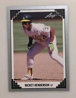 Rickey Henderson 1991 Leaf #101 Oakland Athletics HOF