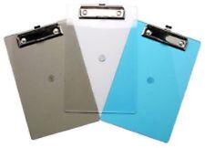 1 x A5 Clip board Imac Tints Plastic Metal Hanging Clip
