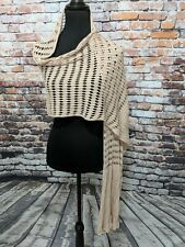 CHICO'S Women's Beige Rayon Longl Scarf Wrap NEW