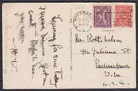 DR Mi Nr. 192, 183 MiF auf AK Wien, Wiesbaden - USA 31.08.1922