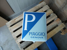 PIAGGIO Genova Vespa Scooter Dealership Steel Porcelain Enamel Advertising Sign