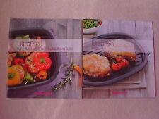 NEU OVP Tupperware 2 Rezepthefte f. UltraPro Platte +Kasserolle 5,7L Auflaufform