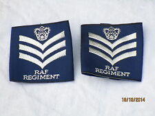 Royal Air Force,Staff Sergeant,Rangschlaufen ,blau, RAF Regiment, 50x55mm