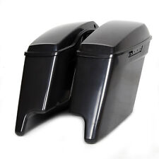 """Unpainted 5"""" Stretched Extended Saddlebags Saddle Bag For Harley Touring 14-18"""