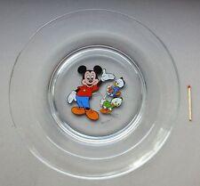 alter Glas Teller Kinderteller vereco france Disney Mickey Mouse Micky Maus